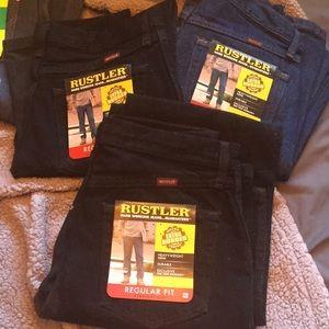 Men's Rustler jeans NWT